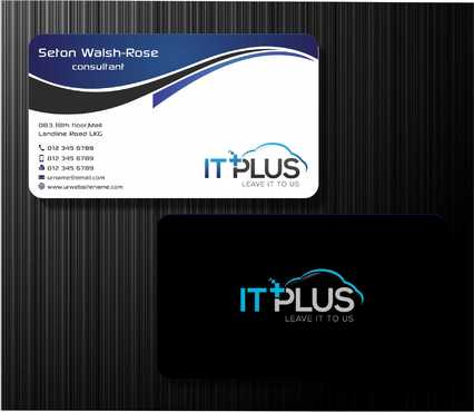 IT PLUS Business Cards and Stationery  Draft # 208 by Dawson