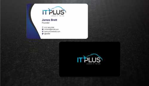 IT PLUS Business Cards and Stationery  Draft # 212 by Dawson