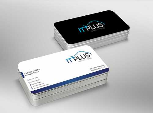 IT PLUS Business Cards and Stationery  Draft # 215 by Dawson