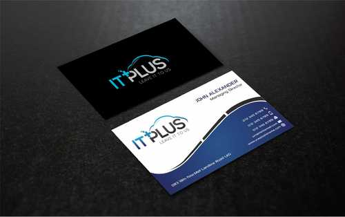 IT PLUS Business Cards and Stationery  Draft # 219 by Dawson