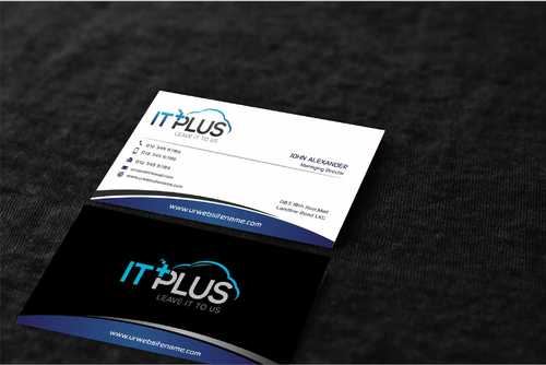 IT PLUS Business Cards and Stationery  Draft # 222 by Dawson