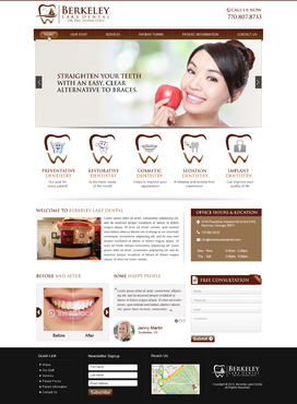 Berkeley Lake Dental Complete Web Design Solution  Draft # 52 by mycrodesigns