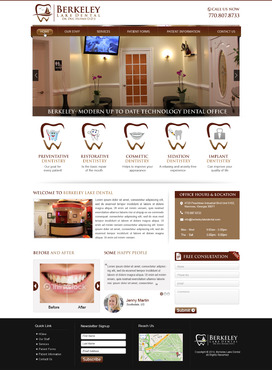 Berkeley Lake Dental Complete Web Design Solution  Draft # 53 by mycrodesigns