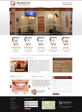 Berkeley Lake Dental Complete Web Design Solution  Draft # 54 by mycrodesigns