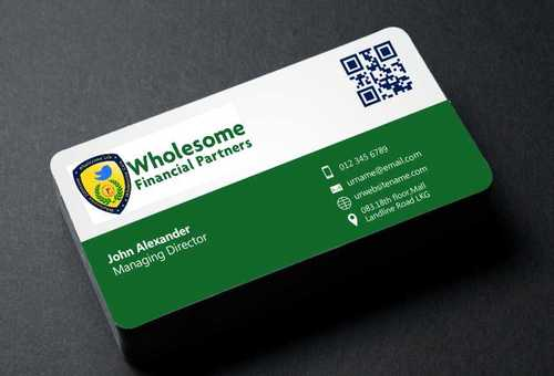 Wholesome Financial Partners Inc. Business Cards and Stationery  Draft # 212 by Dawson