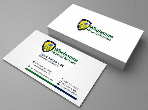 Wholesome Financial Partners Inc. Business Cards and Stationery  Draft # 215 by Dawson