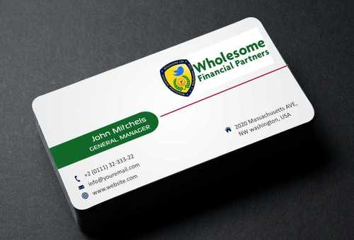 Wholesome Financial Partners Inc. Business Cards and Stationery  Draft # 219 by Dawson