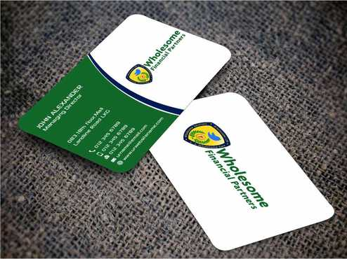 Wholesome Financial Partners Inc. Business Cards and Stationery  Draft # 243 by Dawson