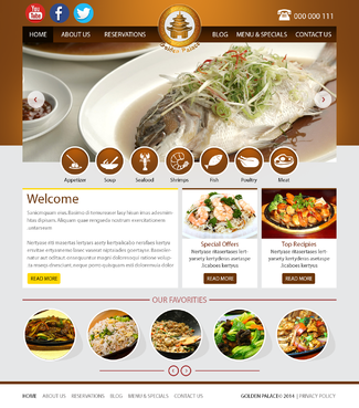 Golden Palace Web Design  Draft # 1 by umairqureshi84