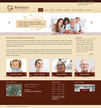 Berkeley Lake Dental Complete Web Design Solution  Draft # 106 by radhey
