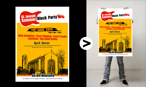 St. Joseph Summer Block Party Marketing collateral  Draft # 5 by neiji