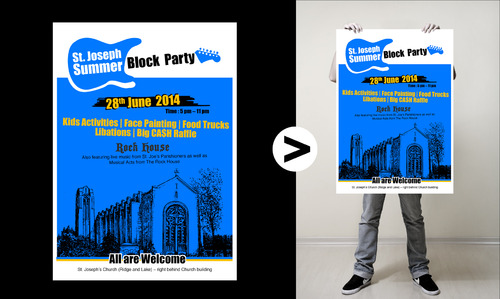 St. Joseph Summer Block Party Marketing collateral  Draft # 6 by neiji
