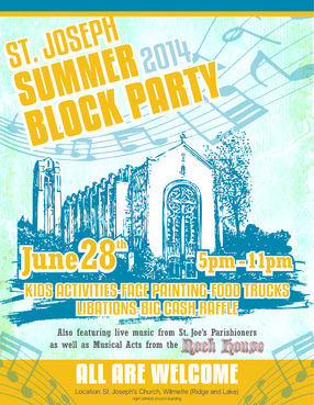 St. Joseph Summer Block Party Marketing collateral  Draft # 7 by maztabotin