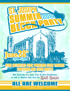 St. Joseph Summer Block Party Marketing collateral  Draft # 8 by maztabotin