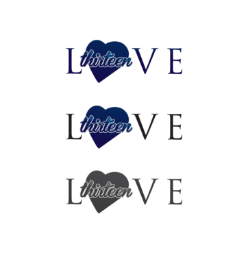 LOVE thirteen (as shown) A Logo, Monogram, or Icon  Draft # 70 by InventiveStylus