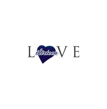 LOVE thirteen (as shown) A Logo, Monogram, or Icon  Draft # 71 by InventiveStylus