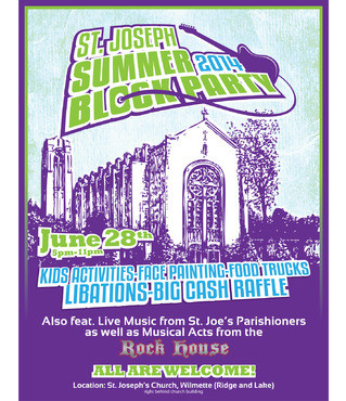 St. Joseph Summer Block Party Marketing collateral  Draft # 16 by maztabotin