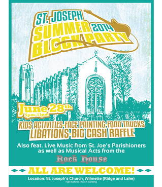 St. Joseph Summer Block Party Marketing collateral  Draft # 17 by maztabotin
