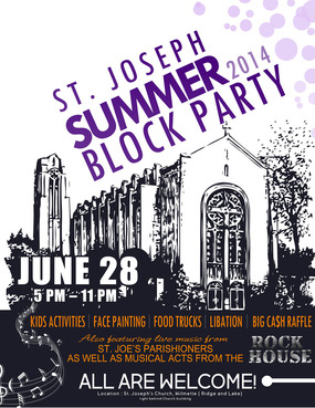 St. Joseph Summer Block Party Marketing collateral  Draft # 18 by iDSign