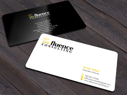 Influence Consulting Business Cards and Stationery  Draft # 3 by Xpert