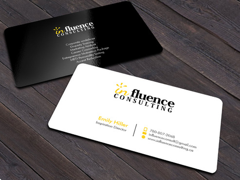 Influence Consulting Business Cards and Stationery  Draft # 4 by Xpert