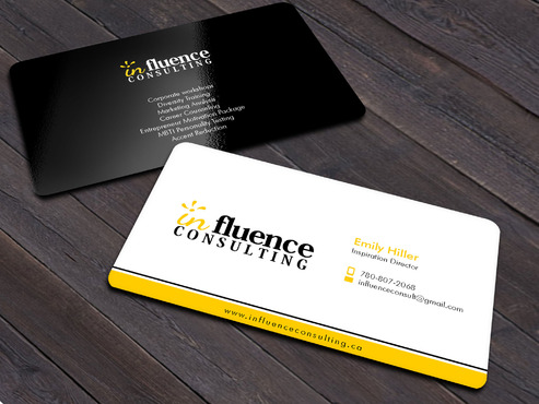 Influence Consulting Business Cards and Stationery  Draft # 5 by Xpert