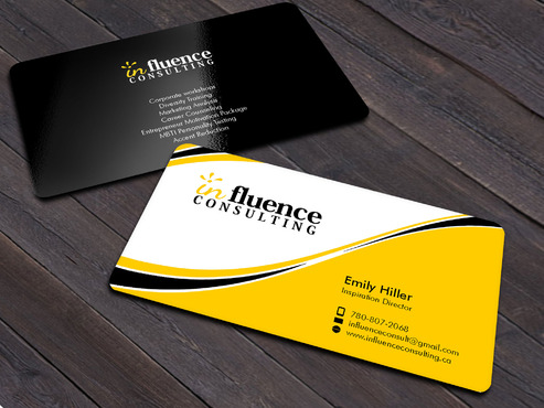 Influence Consulting Business Cards and Stationery  Draft # 12 by Xpert