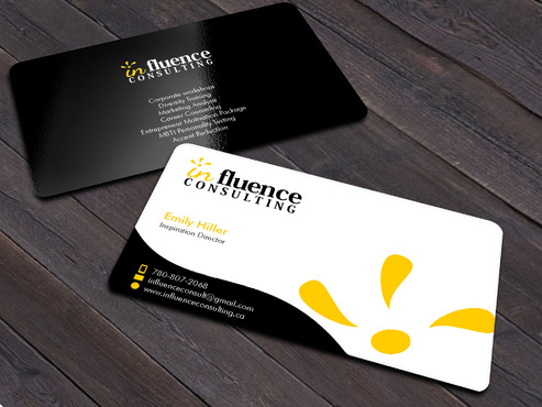 Influence Consulting Business Cards and Stationery  Draft # 16 by Xpert
