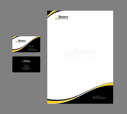 Influence Consulting Business Cards and Stationery  Draft # 18 by Xpert