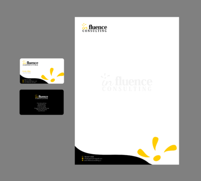 Influence Consulting Business Cards and Stationery  Draft # 19 by Xpert