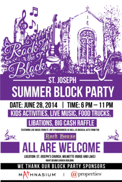St. Joseph Summer Block Party Marketing collateral  Draft # 29 by Sishiarts