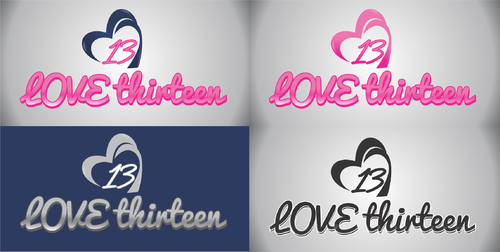 LOVE thirteen (as shown) A Logo, Monogram, or Icon  Draft # 94 by asifwarsi