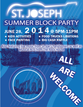 St. Joseph Summer Block Party Marketing collateral  Draft # 34 by Zaldoi