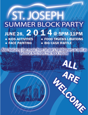 St. Joseph Summer Block Party Marketing collateral  Draft # 35 by Zaldoi