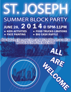 St. Joseph Summer Block Party Marketing collateral  Draft # 36 by Zaldoi