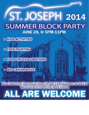 St. Joseph Summer Block Party Marketing collateral  Draft # 37 by Zaldoi