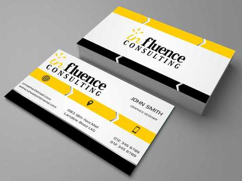 Influence Consulting Business Cards and Stationery  Draft # 139 by Dawson