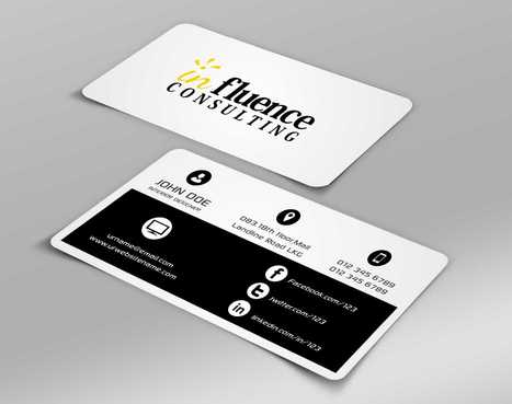 Influence Consulting Business Cards and Stationery  Draft # 140 by Dawson