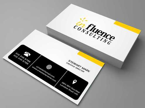 Influence Consulting Business Cards and Stationery  Draft # 141 by Dawson