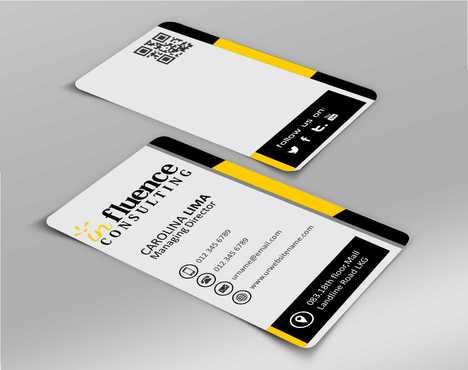 Influence Consulting Business Cards and Stationery  Draft # 142 by Dawson
