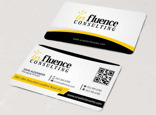 Influence Consulting Business Cards and Stationery  Draft # 145 by Dawson