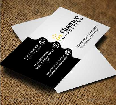 Influence Consulting Business Cards and Stationery  Draft # 147 by Dawson