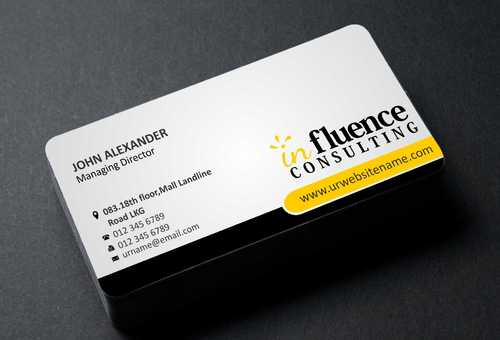 Influence Consulting Business Cards and Stationery  Draft # 148 by Dawson