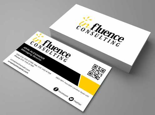 Influence Consulting Business Cards and Stationery  Draft # 149 by Dawson