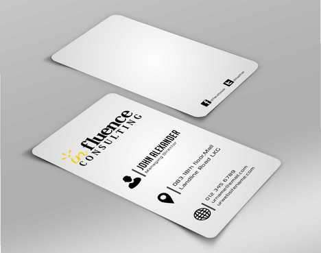 Influence Consulting Business Cards and Stationery  Draft # 153 by Dawson