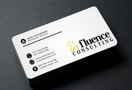 Influence Consulting Business Cards and Stationery  Draft # 155 by Dawson