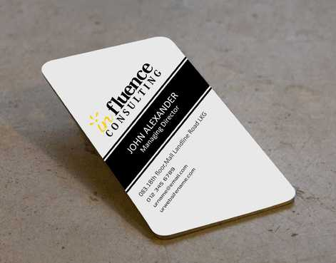 Influence Consulting Business Cards and Stationery  Draft # 156 by Dawson