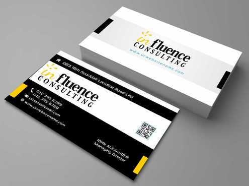 Influence Consulting Business Cards and Stationery  Draft # 157 by Dawson