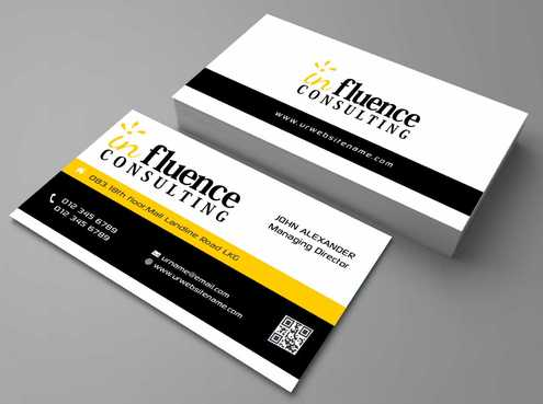 Influence Consulting Business Cards and Stationery  Draft # 158 by Dawson