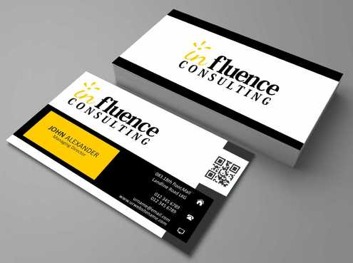 Influence Consulting Business Cards and Stationery  Draft # 159 by Dawson